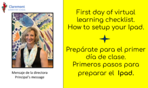 Prepara tu ipad first day of school checklist