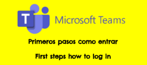 Teams logo : Teams first steps primeros pasos